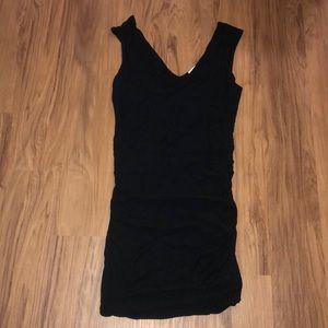 James Peres Ruffle Midi Sleeveless Dress